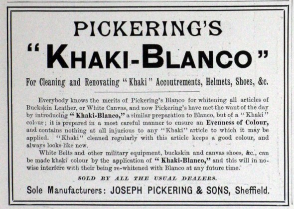 Pickerings's khaki-blanco