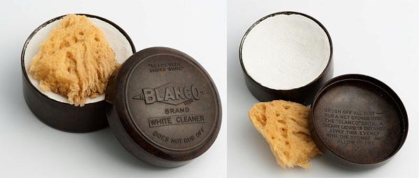 Blanco white in bakelite container