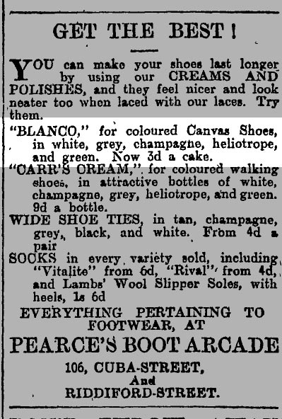 Blanco colours 1912