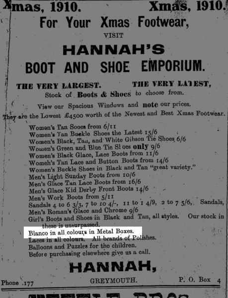 1910 Blanco advert