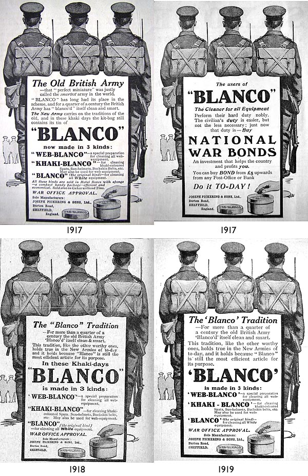 Blanco WW1 ads