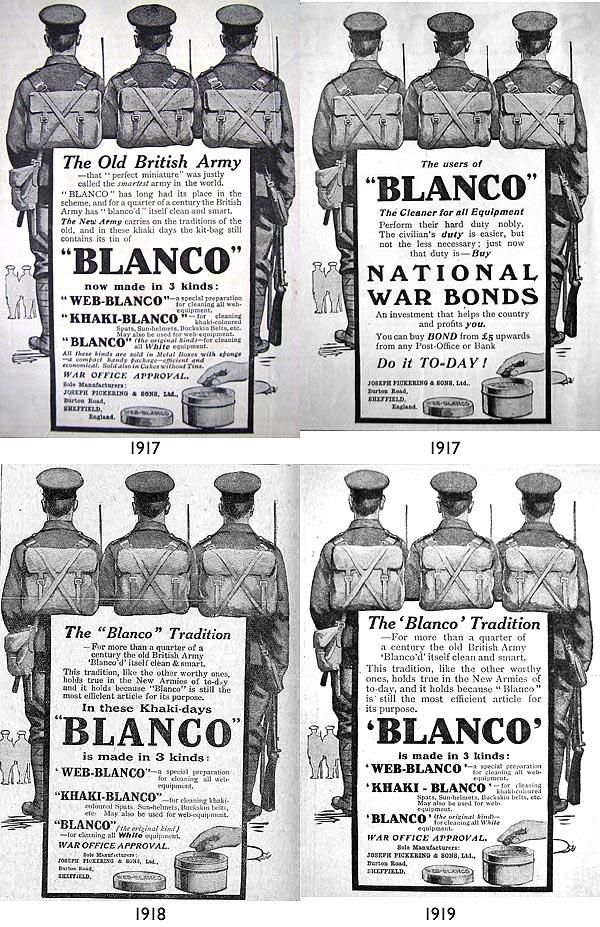 Blanco WW1 ads