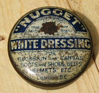 Nugget white dressing tin