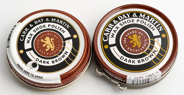 Carr & Day & Martin dark brown shoe polish