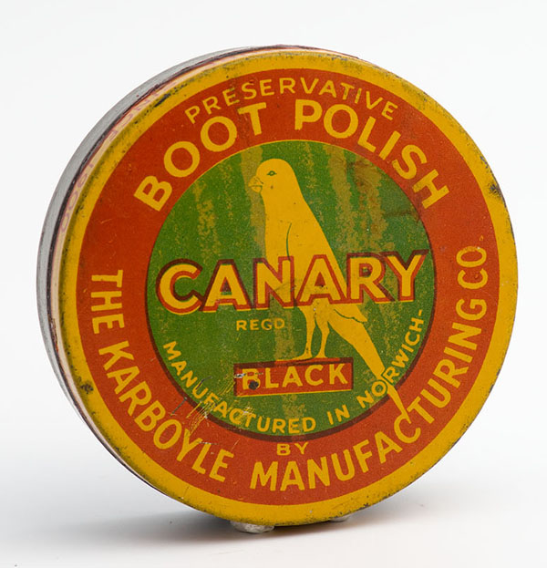 Canary black boot polish