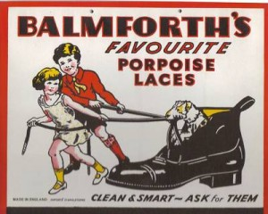 Balmforth porpoise laces ad