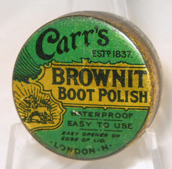 Carr's Brownit boot polish