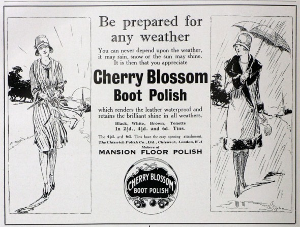 cherry blossom ad 1928