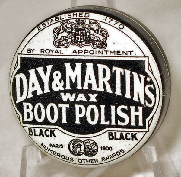 Day & Martin's black wax boot polish