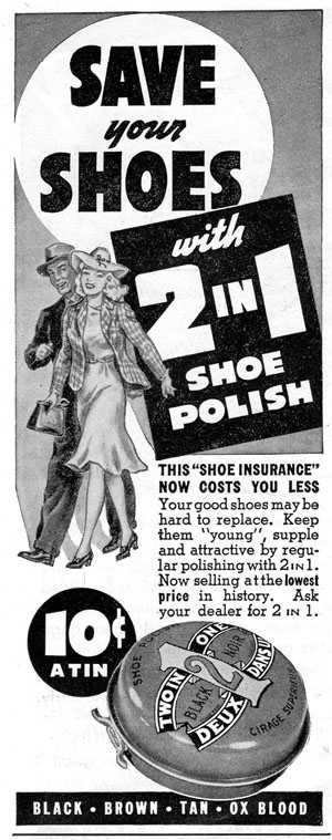 2 in 1 shoe polish