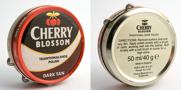 Cherry Blossom dark tan shoe polish