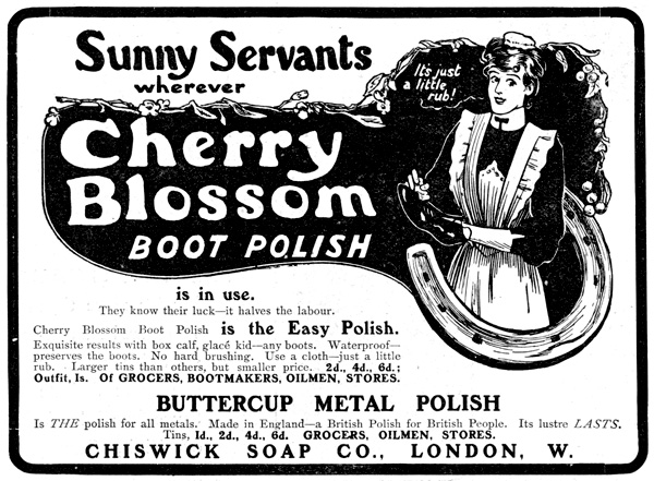 Cherry Blossom polish - Illustrated London News, March 1904
