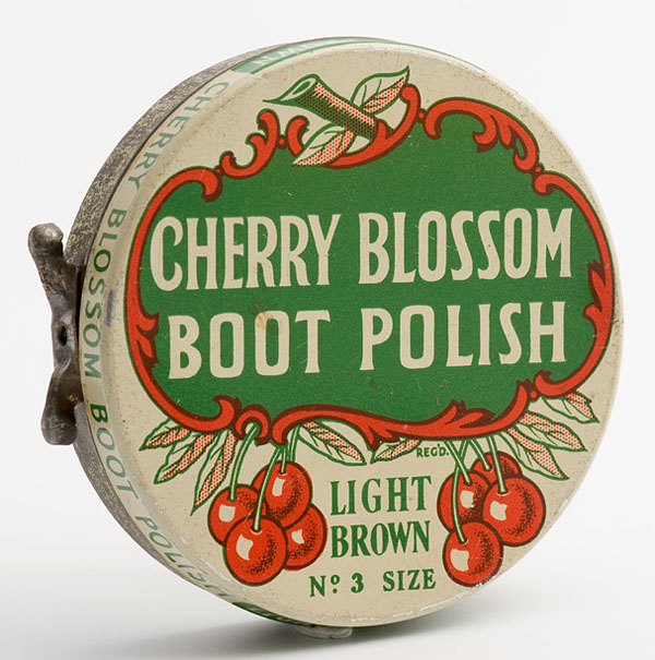 cherry blossom boot polish light brown