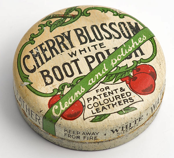 Cherry Blossom white boot polish