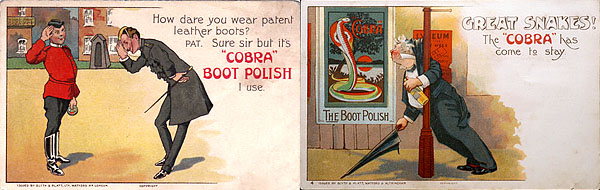 Cobra polish advertising postcards