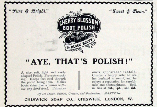 Cherry Blossom ad October 1903
