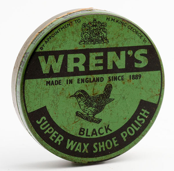 Wren's black super wax shoe polish