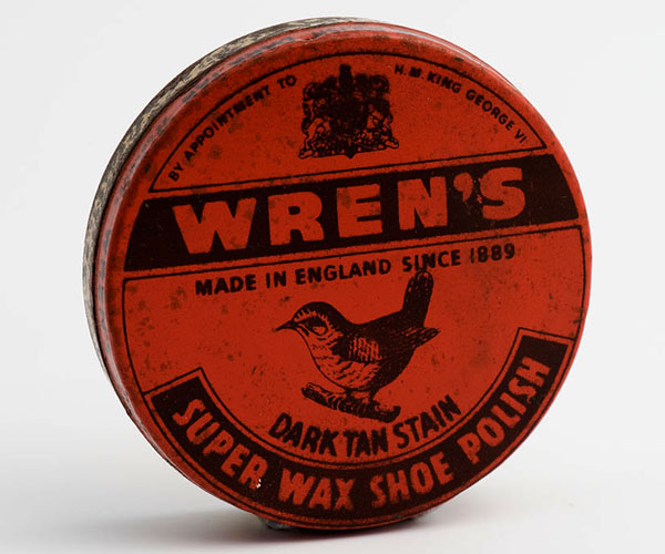 Wren's dark tan stain super wax shoe polish