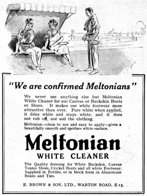 Meltonian white cleaner 1923 ad