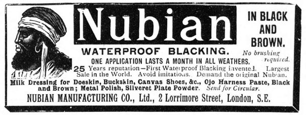 Nubian blacking, The Graphic July 1898