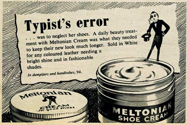Meltonian cream ad 1950