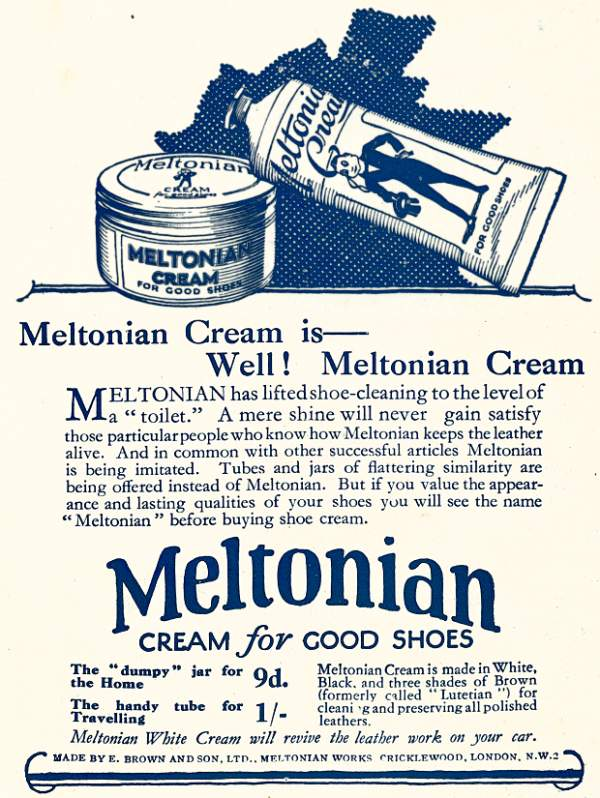 meltonian cream advert 1925