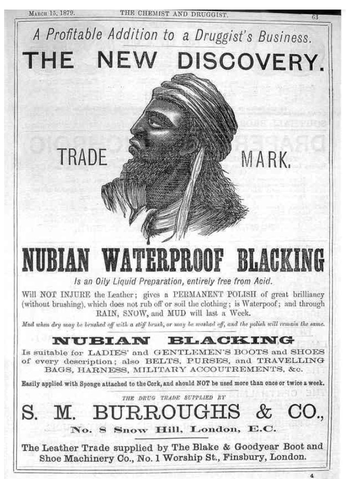 Nubian advert 1879