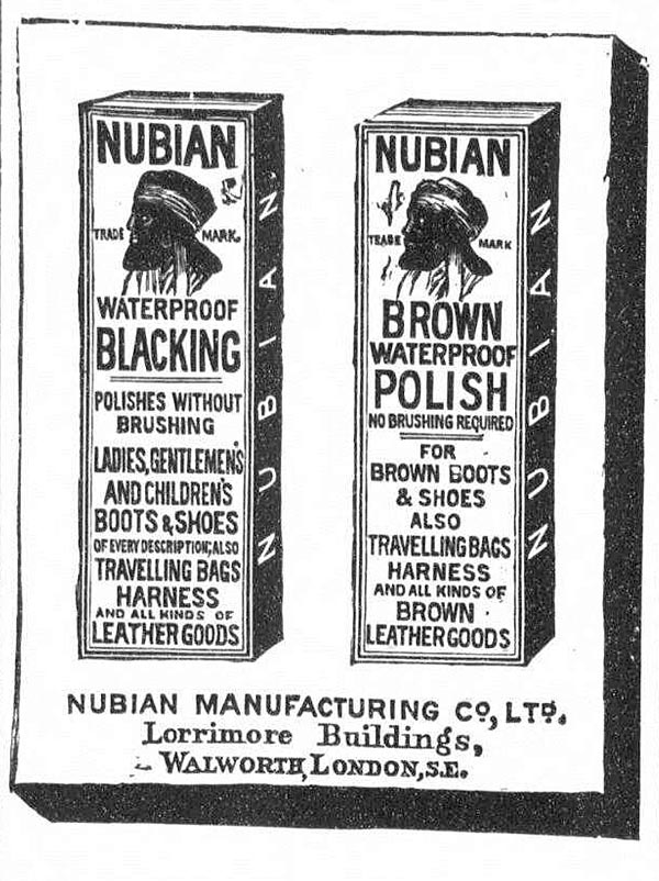 Nubian blacking The Graphic June 1887