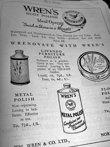 Wren's polish advert 1931