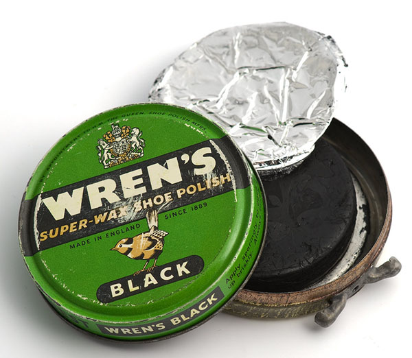 Wren's super wax black shoe polish