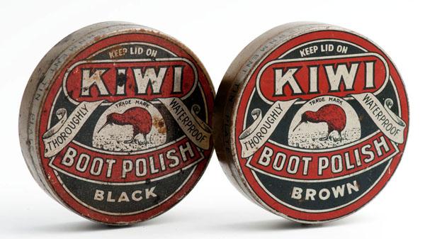 Vintage Kiwi Shoe Groomer- Shoe Shine Kit with Nine Brushes.   zoom