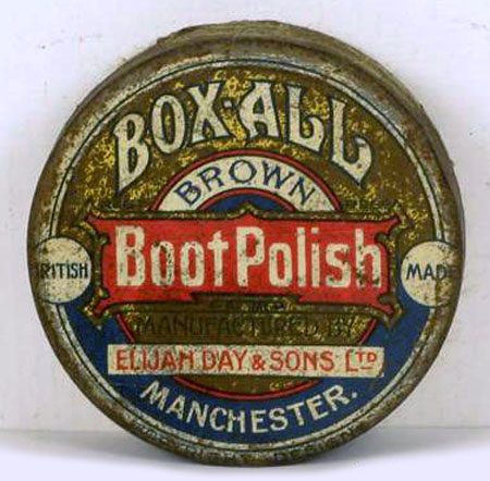 Box-all brown boot polish