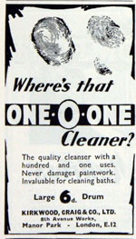 One-O-one 1936 advert