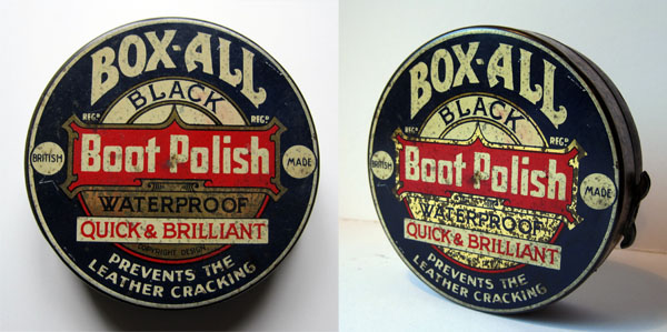 Box-All black boot polish