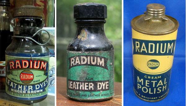 Radium dye and metal polish
