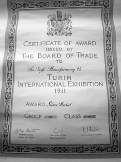 Swift Turin award