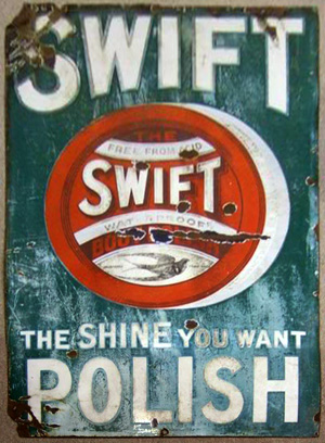 Swift Polish enamel sign
