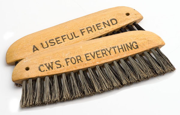 Cooperative Wholesale Society boot brush