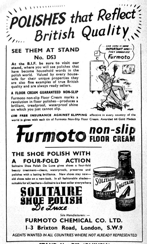 1949 Furmoto advert