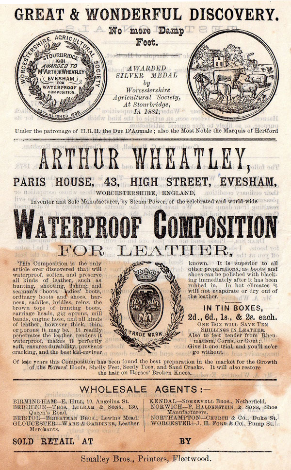 Wheatley's Waterproof Composition