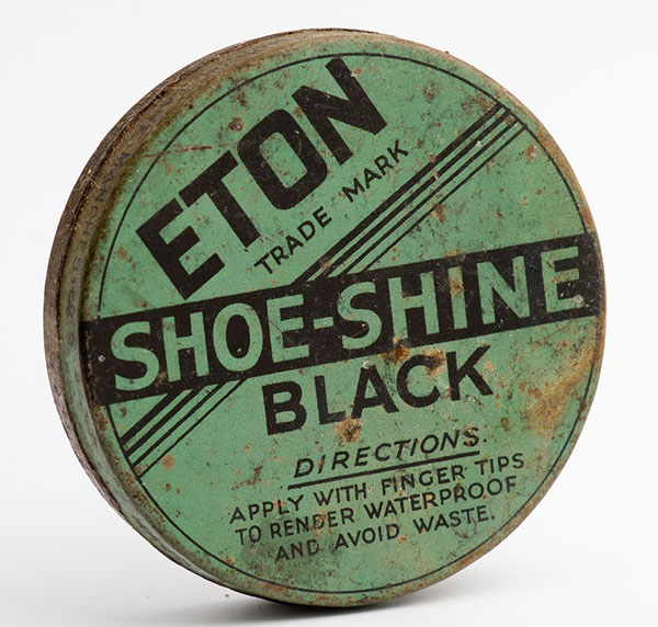 Eton black shoe-shine